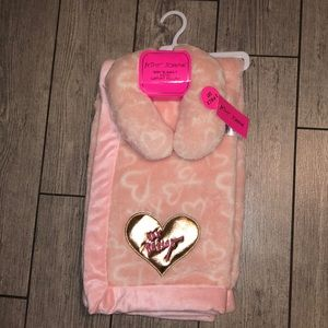 Betsey Johnson baby blanket and support pillow